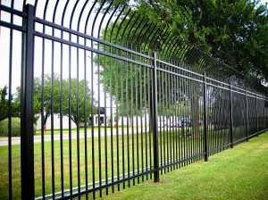 commercial iron fence