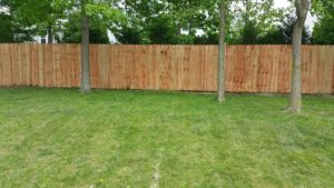 6ft high privacy fence micro shade cedar tone