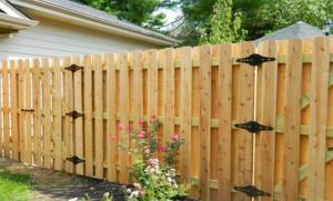 wood picket fence gates