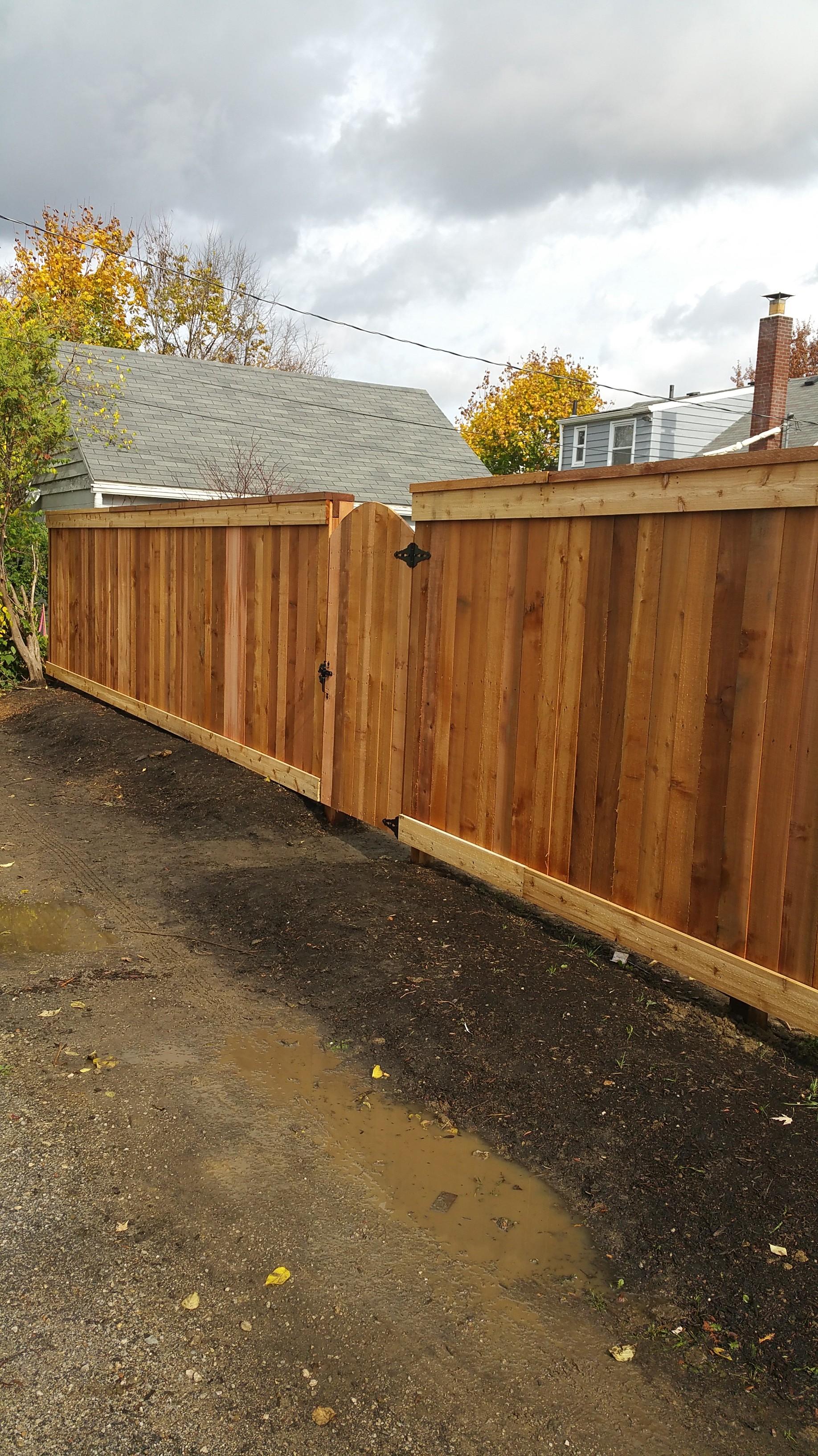 nice wood gate