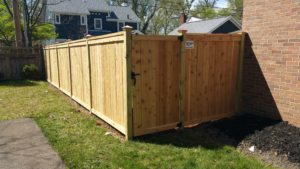 cedar wood stepped fence columbus ohio