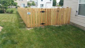 6ft high cedar cap and trim fence