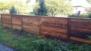 4ft high Horizontal cedar fence