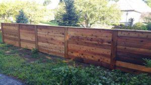 4ft high Horizontal cedar fence