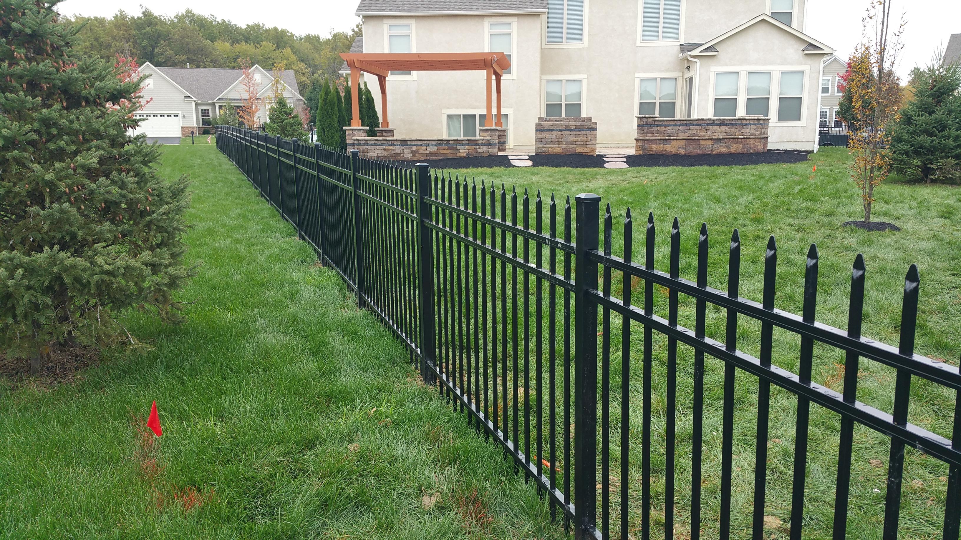 Steel Fence Columbus Ohio Hamilton Fencing Columbus Ohio